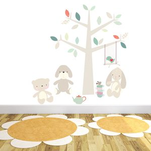 Teddy Bear's Picnic Wall Stickers - baby's room