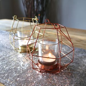 Brass And Copper Hanging Tea Light Holder - new home gifts