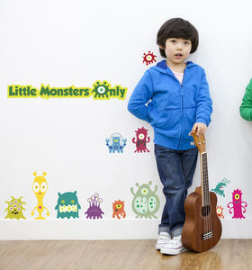 Little Monsters Only Fabric Wall Stickers - wall stickers