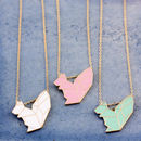 Enamel Animal Pendant Necklace