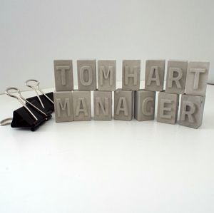 Personalised Office Desk Mini Letters Name Sign