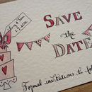 10 Hand Illustrated Save The Date Cards