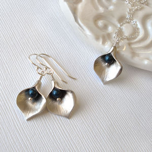 Calla Lily Jewel Jewellery Set - necklaces & pendants