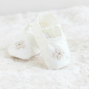 Christening Booties 'Jessica' - christening wear