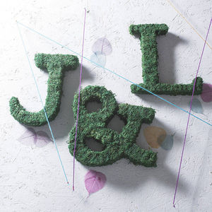Real Moss Decorative Ampersand - outdoor decorations
