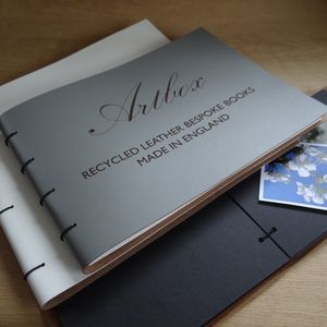 Engraved Leather Photo Album - photo albums