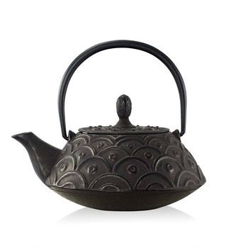 Black Kasumi Cast Iron Teapot 800ml Japanese Style