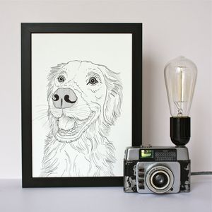 Personalised Pet Portrait Line Drawings - prints & art sale