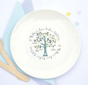 A Mother's Love Family Tree Ceramic Plate