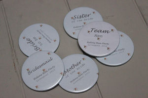 A Set Of Ten Personalised Hen Party Compact Mirrors