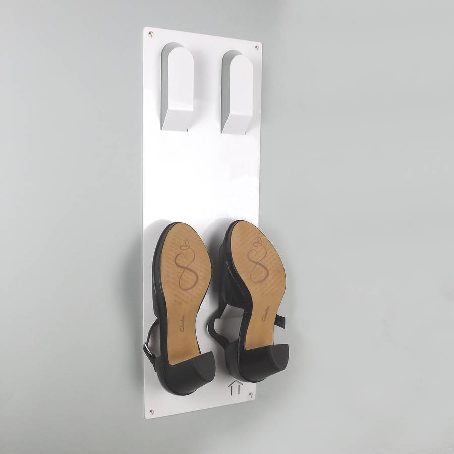 slimline wall mounted shoe rack by the metal house limited. Black Bedroom Furniture Sets. Home Design Ideas