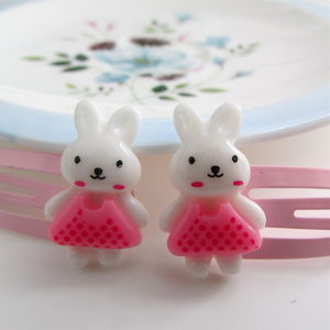 Easter Bunny Hair Clips - hair accessories