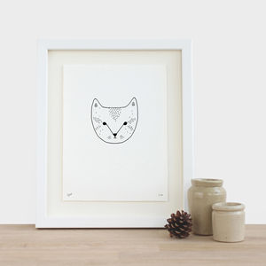 Cat Print - pictures & prints for children
