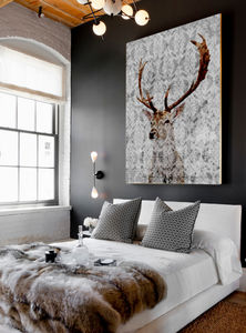 Highlands Stag, Canvas Art - contemporary art