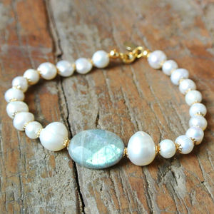 Freshwater Pearl Labradorite Bracelet - jewellery gifts for mothers