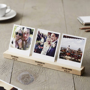 Personalised Wedding Timeline Photo Block - picture frames