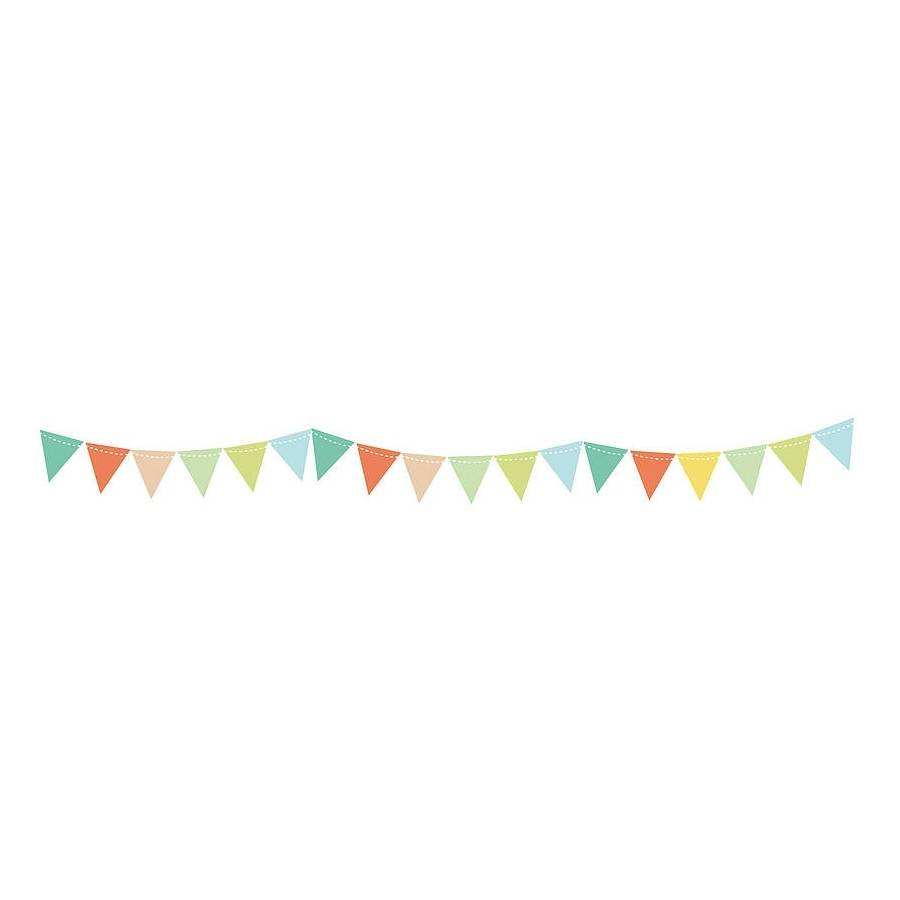 bunting wall stickers by parkins interiors ...