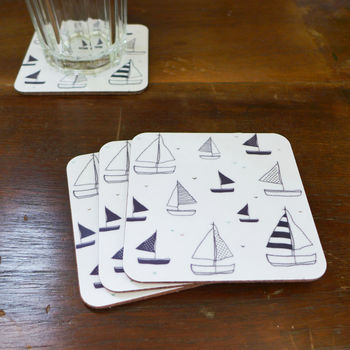 Set Of Four Yacht Coasters - Square