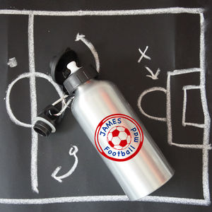 Personalised Football Water Bottle - camping