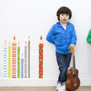 Coloured Pencils Fabric Wall Stickers