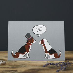 Beagle Wedding / Engagement Card - shop by category