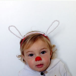 Animal Ears Shape Headband With Beads