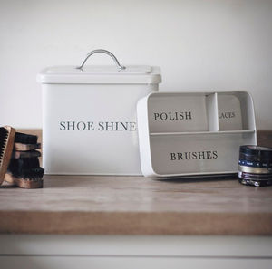 Shoeshine Box - tins