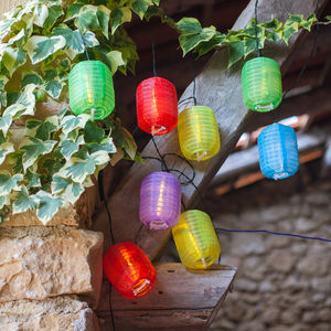 Multi Coloured Lantern Solar Lights - fairy lights & string lights