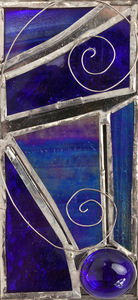 Water Reflections Fused And Stained Glass Artwork