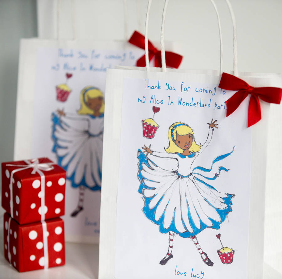 Alice In Wonderland Personalised Party Bag