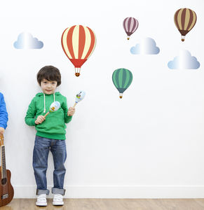 Hot Air Balloon Fabric Wall Stickers - decorative accessories