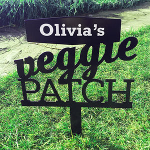 Personalised Veggie Patch Sign - get garden ready