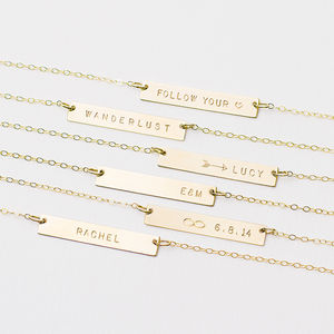 Personalised Bar Necklace - gifts under £50