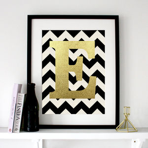 Personalised Chevron Initial Print - home accessories