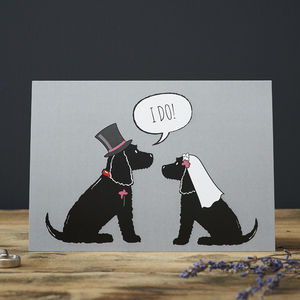 Cocker Spaniel Wedding / Engagement Card - engagement cards