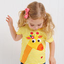 Gilly The Giraffe Appliqué T Shirt