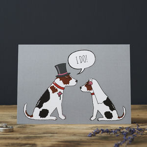 Jack Russell Wedding / Engagement Card - cards & invitations