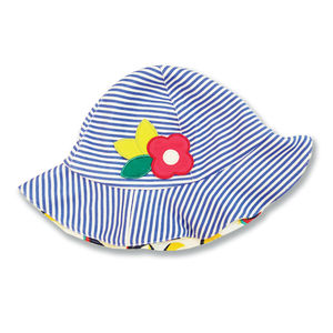 Blue Stripe Beachball Print Hat - hats, scarves & gloves