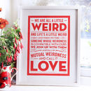 'Weird Love' Wedding Gift Print