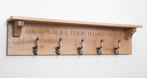 Grand Personalised Coat Hooks - bedroom