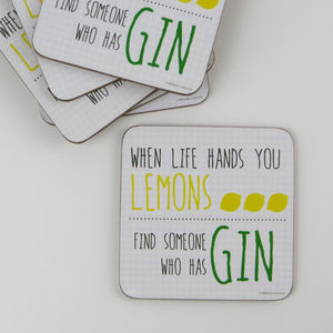 Humorous Quote Drinks Coasters: 12 Fun Designs - new in home