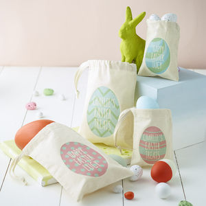 Personalised Easter Egg Bag - children's easter