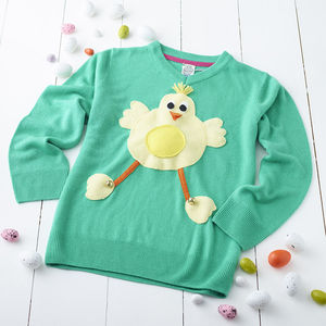 Children's Squeaky Tummy Easter Chick Jumper - less ordinary easter ideas