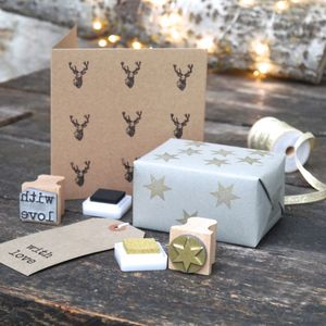 Christmas Card Stamp Kit - cards & wrap