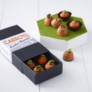 Personalised Box Of Chocolate Carrots - unique easter ideas