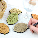 Personalised Leaf Drop Top Guest Book