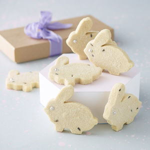 Bunny Shortbread Biscuit Box - cakes & sweet treats