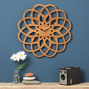 Large Modern Geometric Clock - clocks