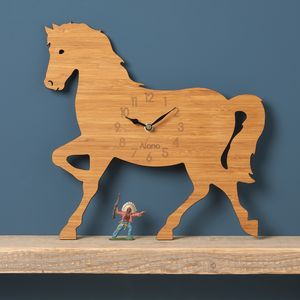 Horse Personalised Children's Clock - children's room