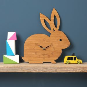 Rabbit Personalised Childrens Clock - children's clocks